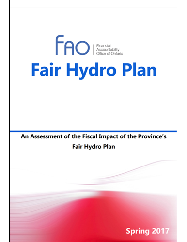 An Assessment of the Fiscal Impact of the Province's Fair Hydro Plan