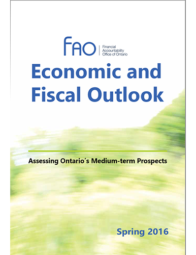 Economic and Fiscal Outlook Spring 2016