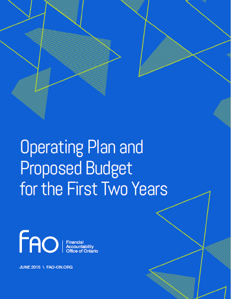 Operating Plan and Proposed Budget for the First Two Years