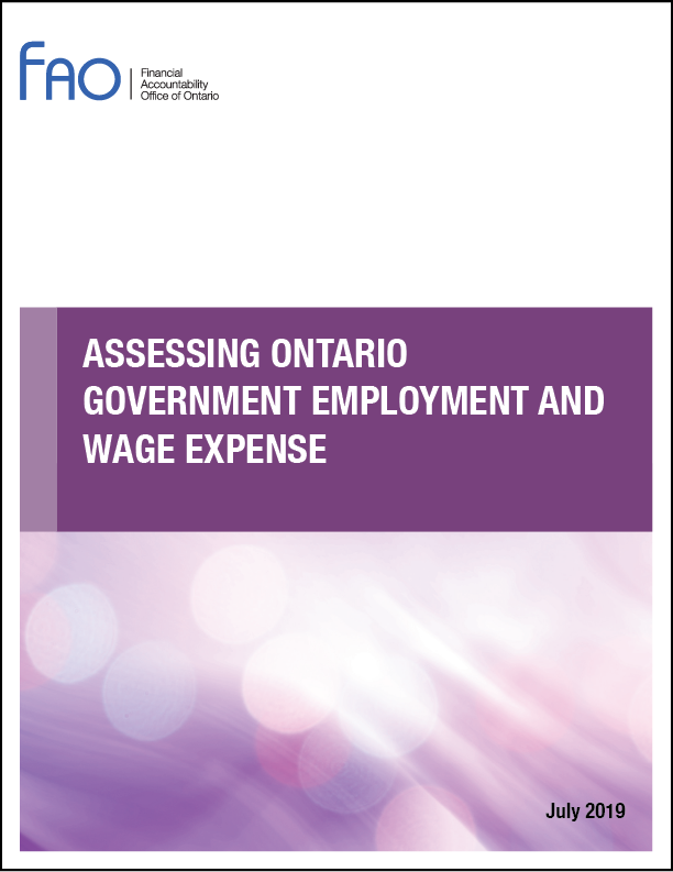 Assessing Ontario Government Employment and Wage Expense