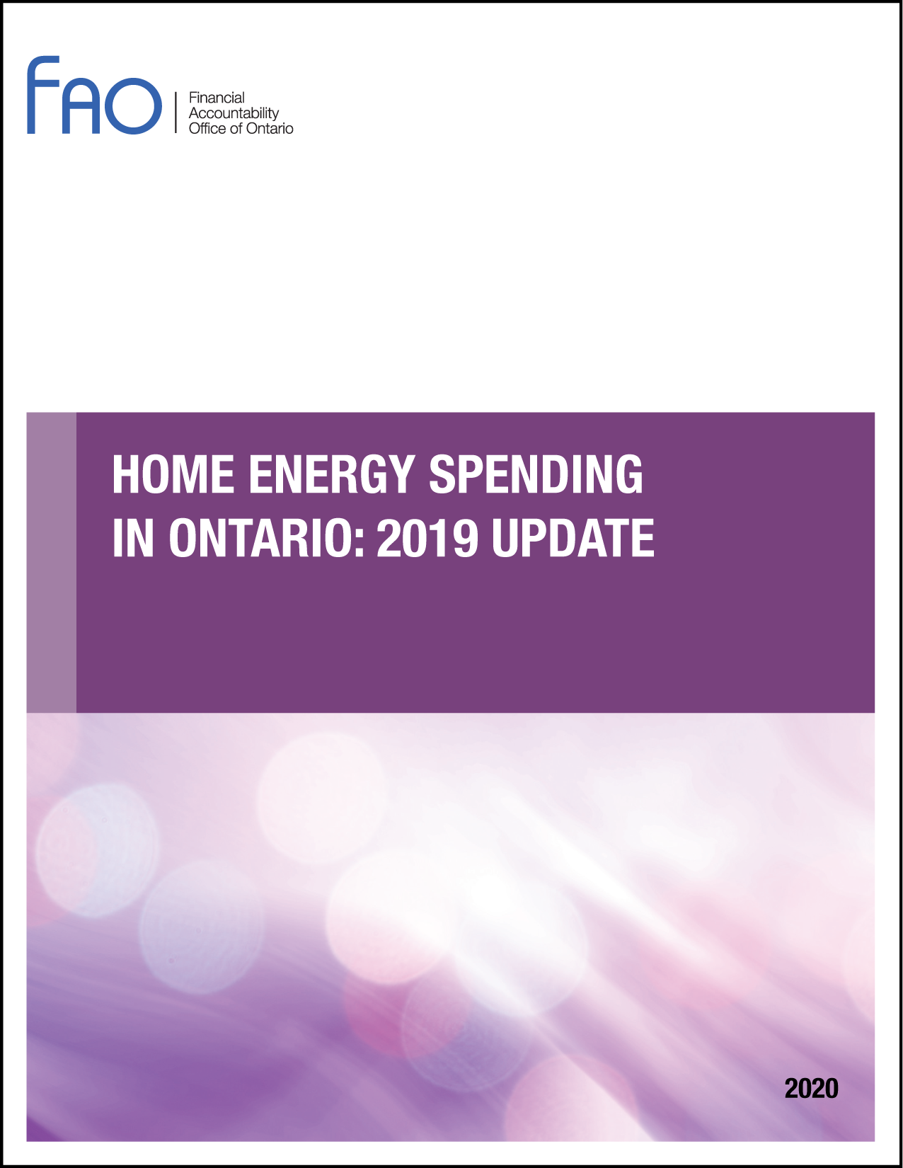 Home Energy Spending in Ontario: 2019 Update