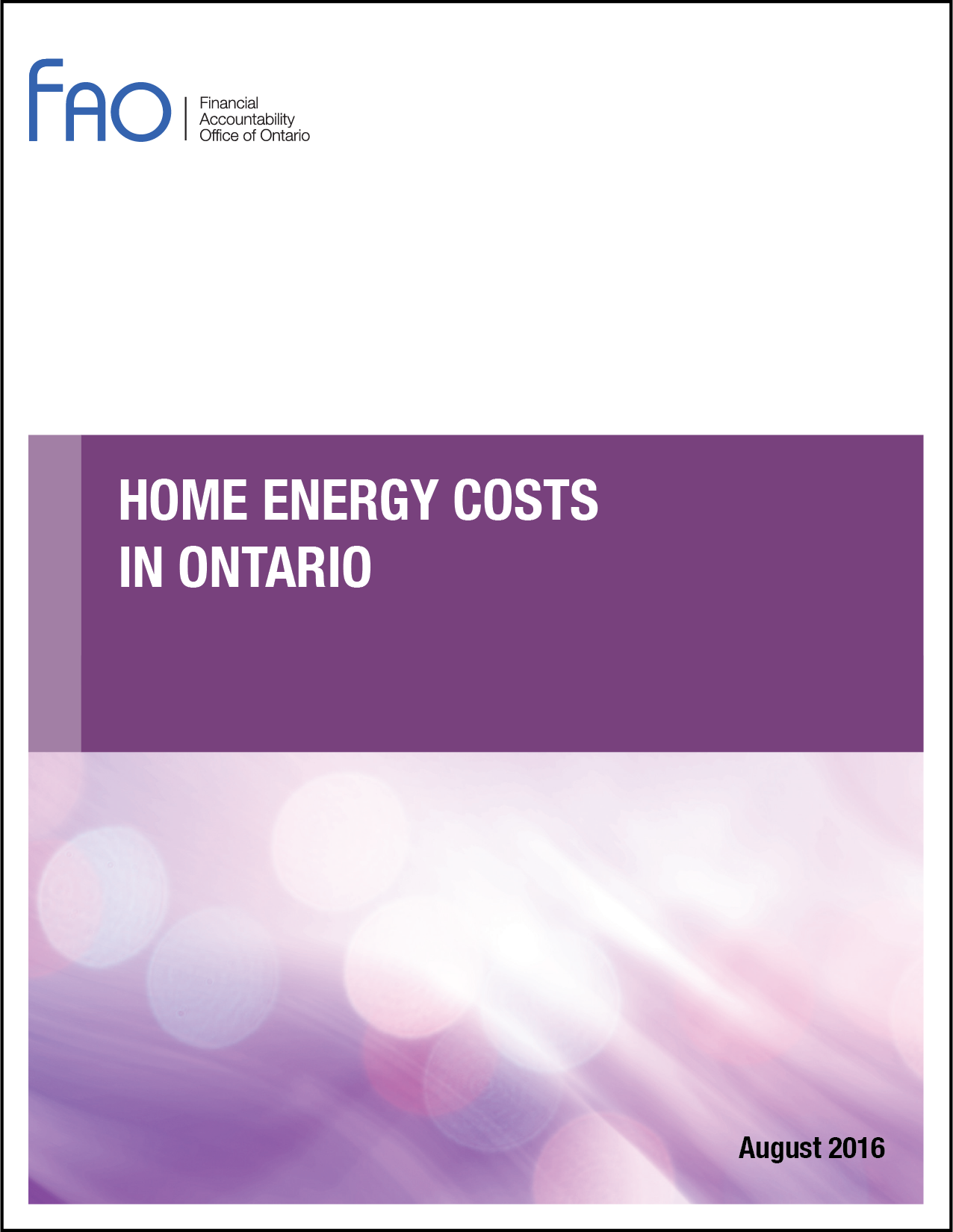 Home Energy Costs in Ontario
