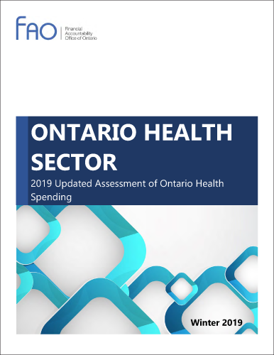 Ontario Health Sector:  2019 updated assessment of Ontario health spending