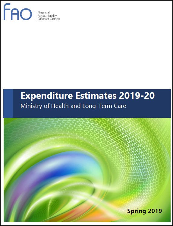 Expenditure Estimates 2019-20: Ministry of Health and Long-Term Care