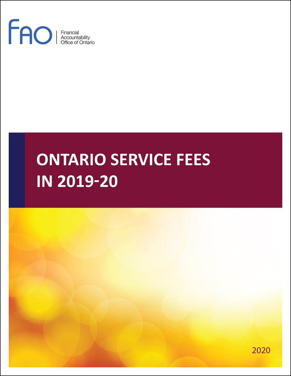 Ontario Service Fees in 2019-20
