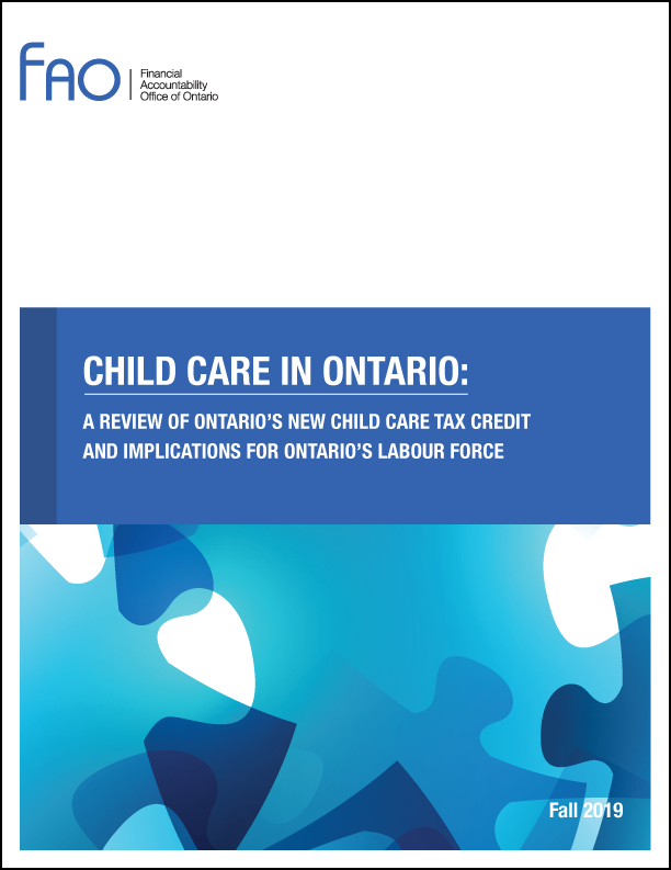 Child Care In Ontario: A Review of Ontario's New Child Care Tax Credit