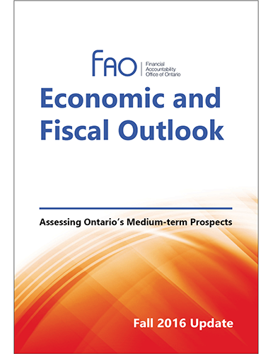 Economic and Fiscal Outlook - Update, Fall 2016