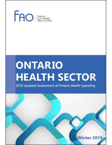 Ontario Health Sector: 2019 updated assessment of Ontario